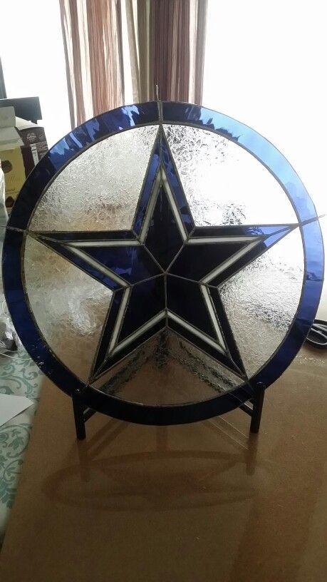 Yellow Blue Flag Original Texas