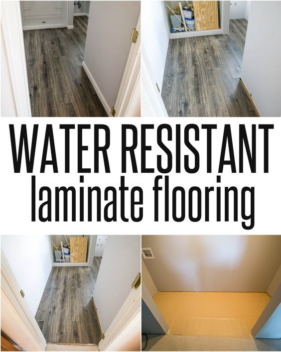Water And Gray Laminate Black Resistant Flooring