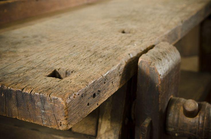 18th Century Moravian Workbench At Old Salem North