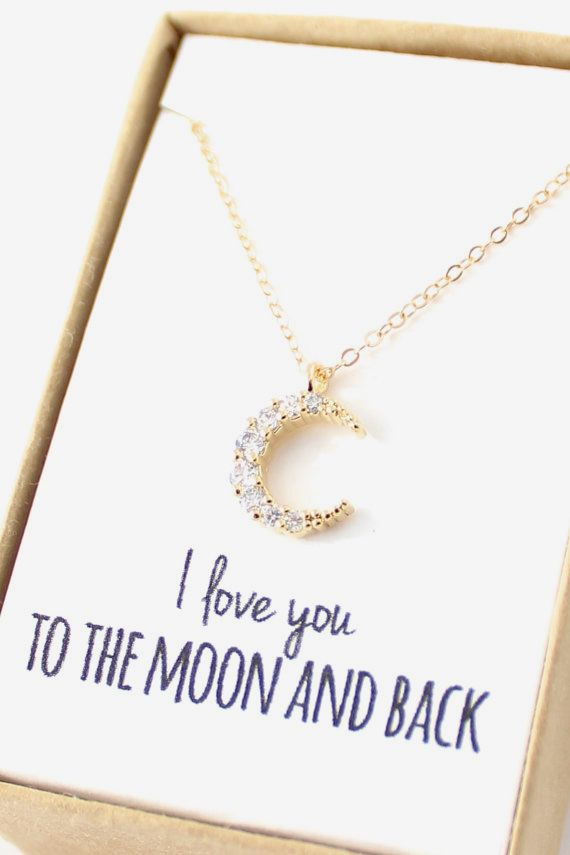 Love You Moon And Back Rings