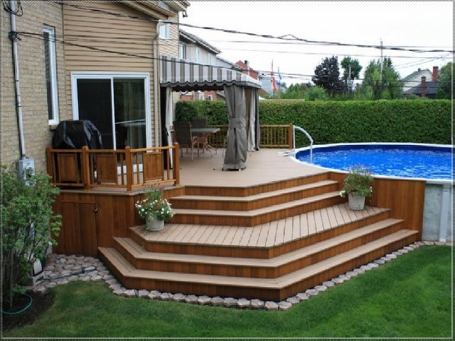 Above Ground Pool Deck Ideas