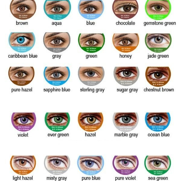 Colored Contacts Light Blue