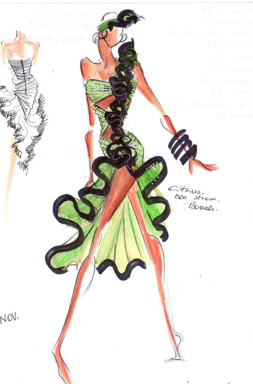 Fashion Sketches Cher