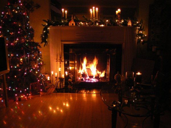 Twas Night Christmas Fireplaces