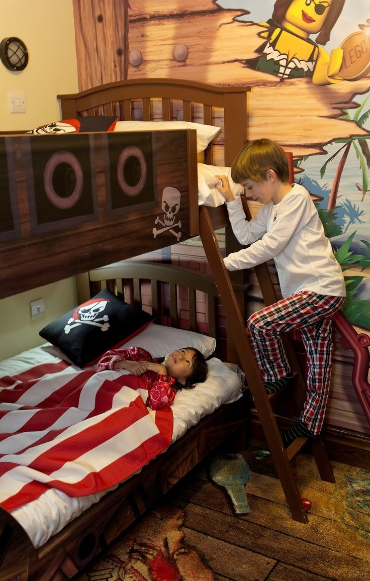 Pirate Themed Boys Room Bunk Beds