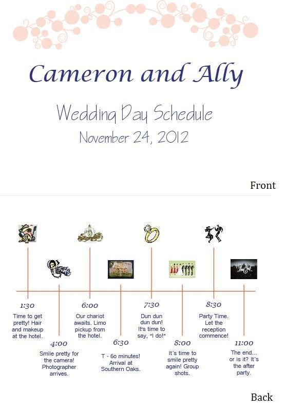 Timeline 4 Reception Hour Wedding