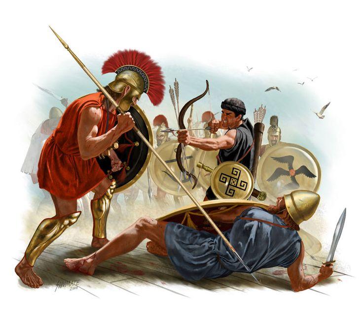 Athenian War Spartan Map And