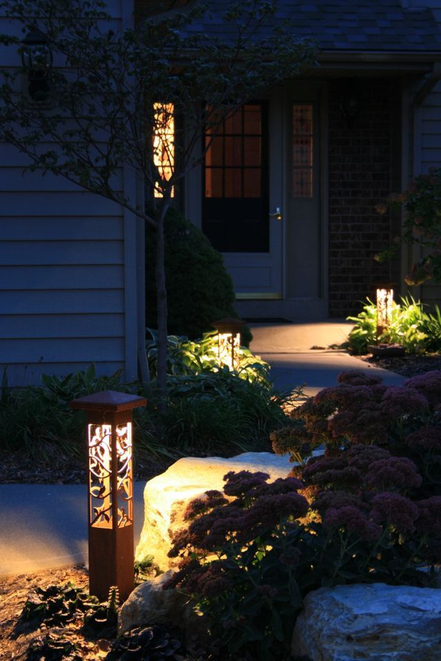 Outdoor Landscape Lighting Decorative Steel Bollard Light