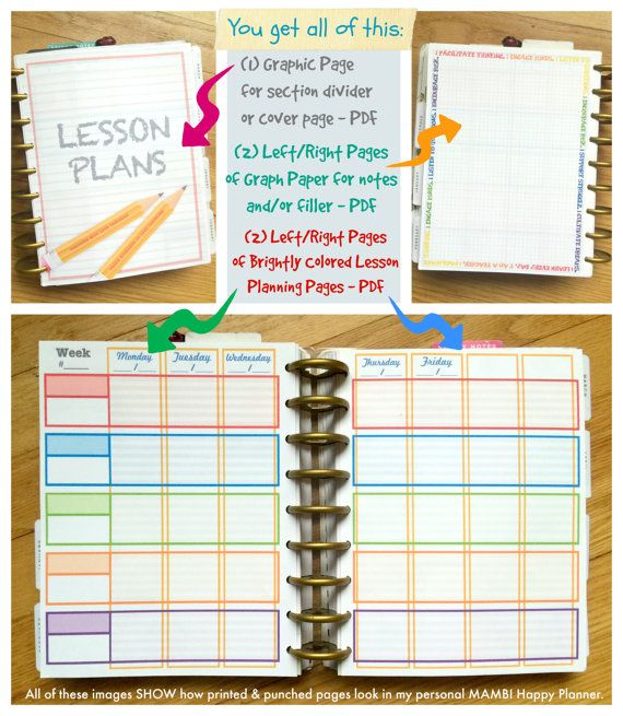 Horizontal Weekly Planner Template