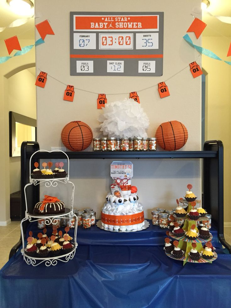 Basketball Themed Baby Shower Favors