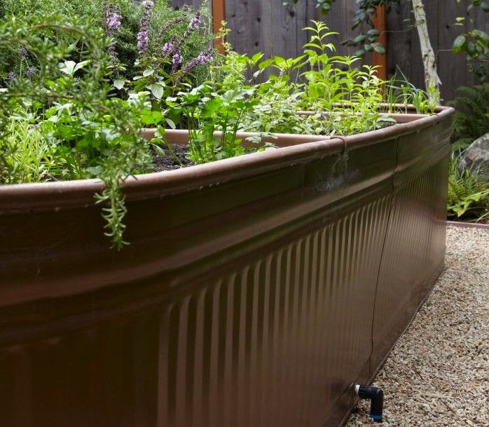 Galvanized Troughs Gardening