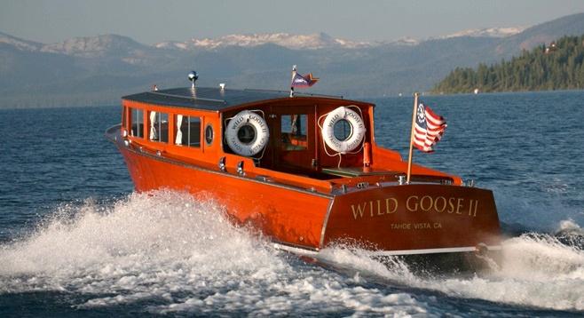 Vintage Painting Boat Lake Tahoe