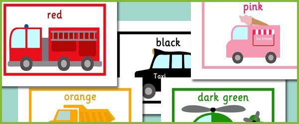 Worksheets Transportation Vehicles
