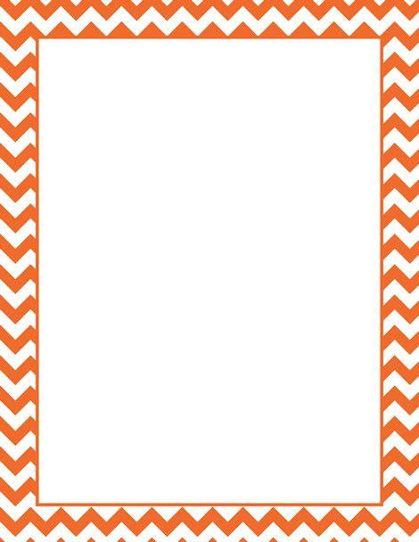 Art Clip Orange Template Border Chevron