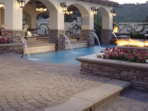 Stone And Stucco Patio Cover Backyard Inspiration