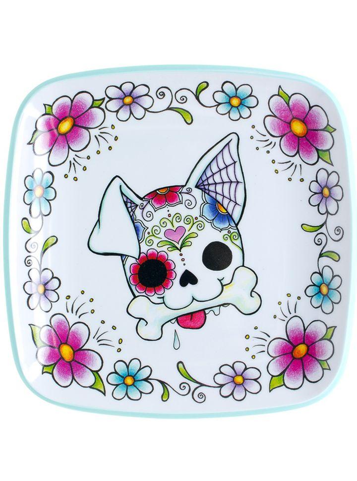 And Skull Dog Sugar Sugar Bulldog White Black Skull