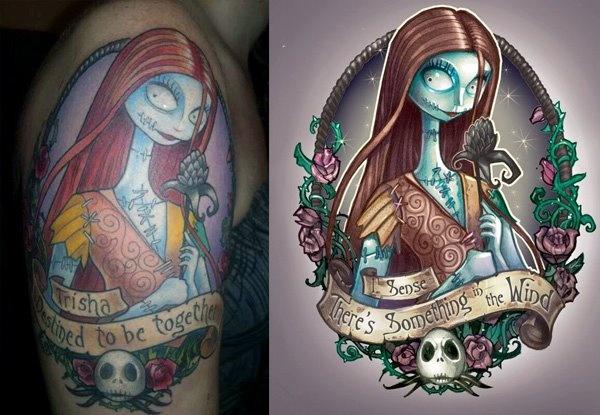 Nightmare Christmas Tattoo Art