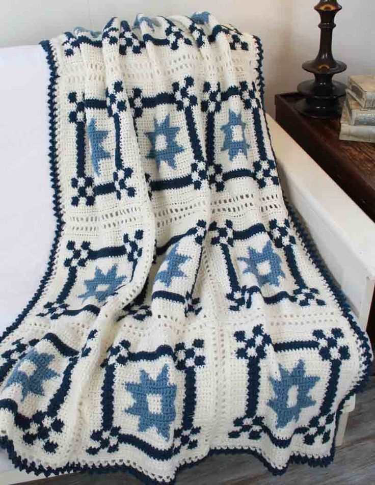 Country Star Afghan Crochet Pattern