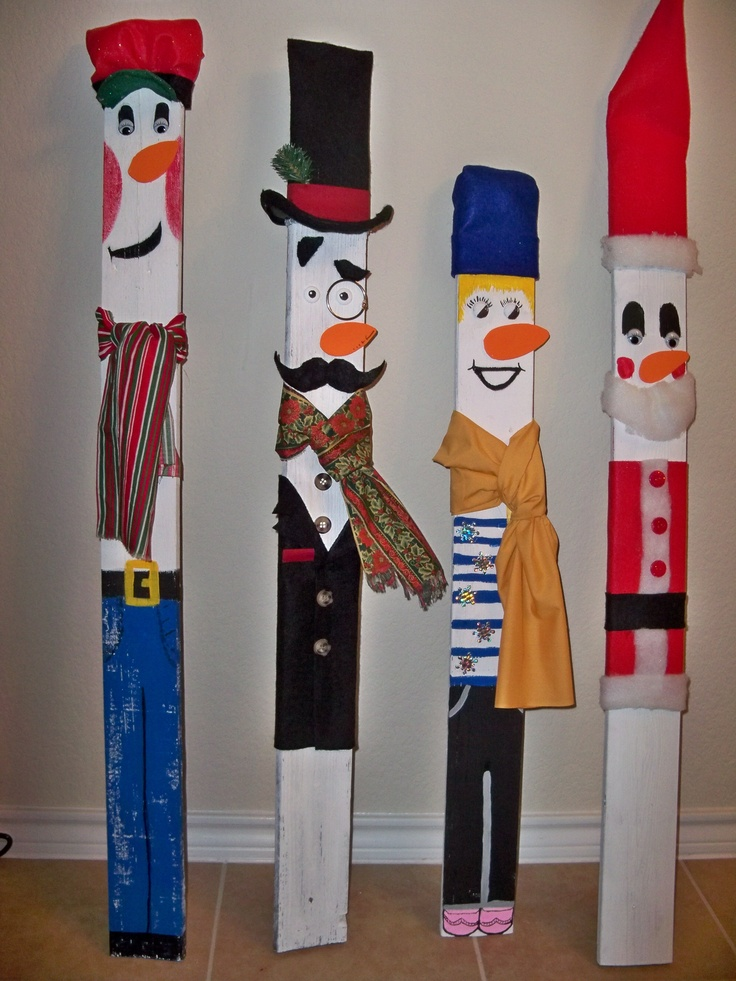 Fence Picket Christmas Crafts