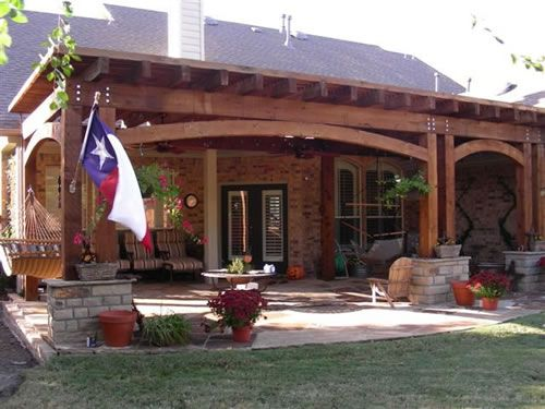Backyard Covered Patio Ideas Arbor And Attached Covered