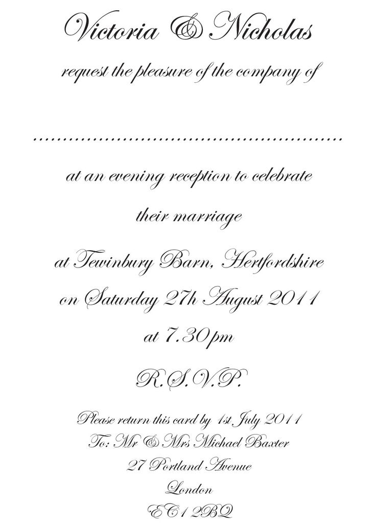 Proper Wedding Invitation Wording Examples