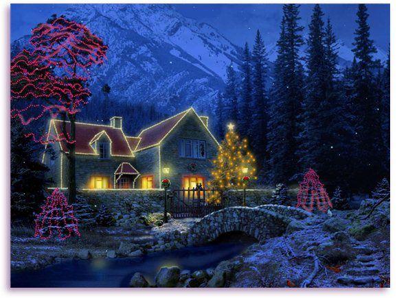 3d Animated Screensavers Christmas Cottage