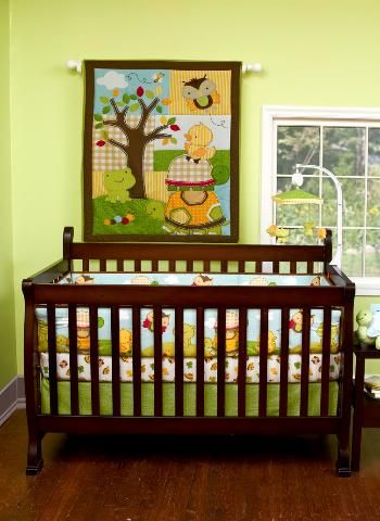 Forest Critters Crib Bedding Turtle Duck Frog Owl Crib