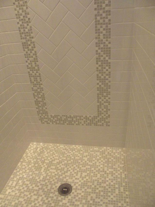 Silver Backsplash Modern Bathroom