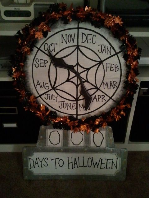 halloween nightmare before christmas clock