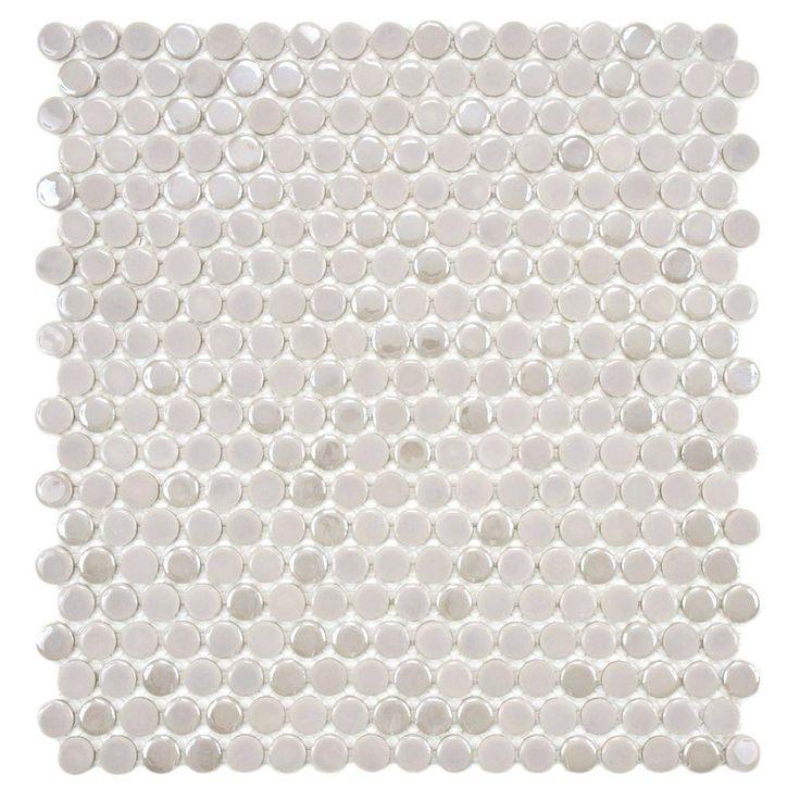 12 Cosmo 1 Penny Porcelain Merola 11 Round 4 White Tile X Tile Wall