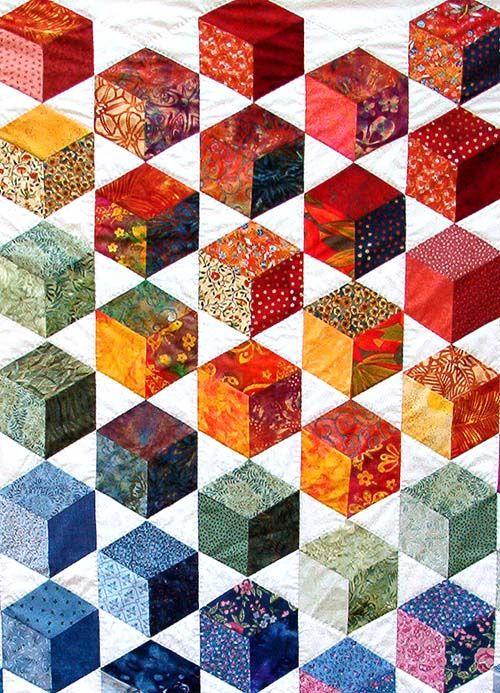 Tumbling Blocks Quilt