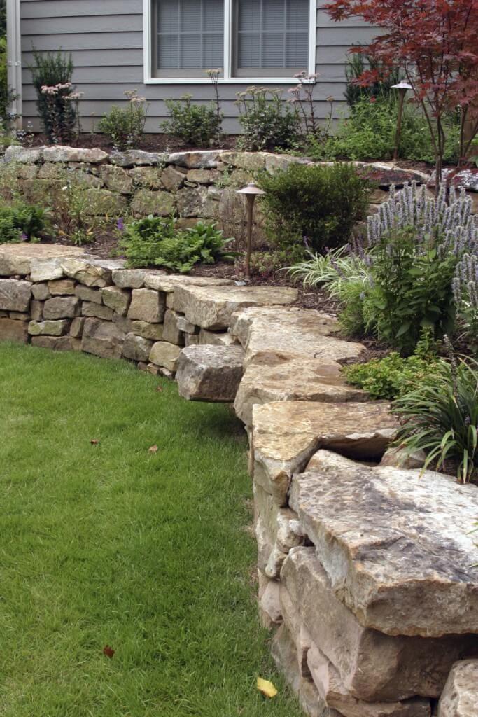 Spiral Brick Raised Garden Beds