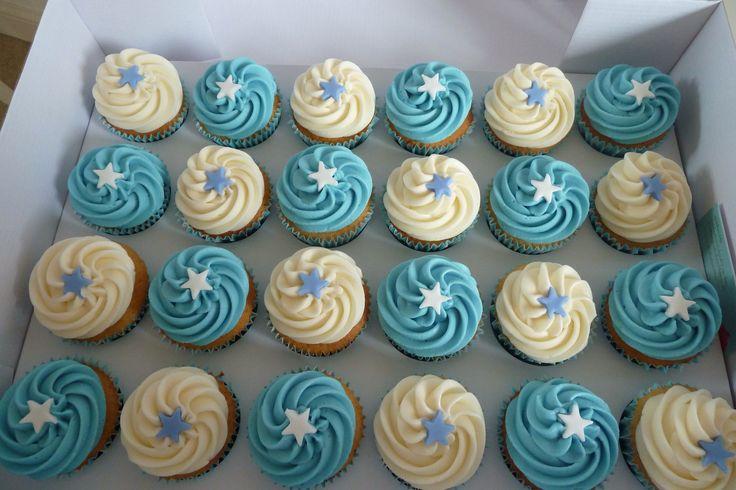Baby Boy Christening Cupcakes