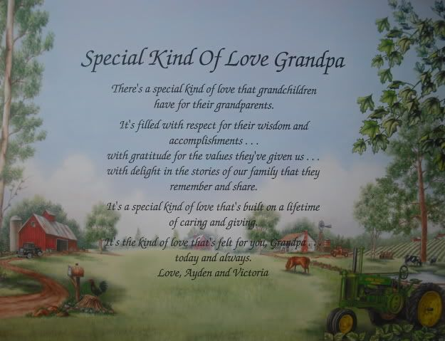 SPECIAL LOVE GRANDPA POEM FATHERS DAY / CHRISTMAS GIFT ...