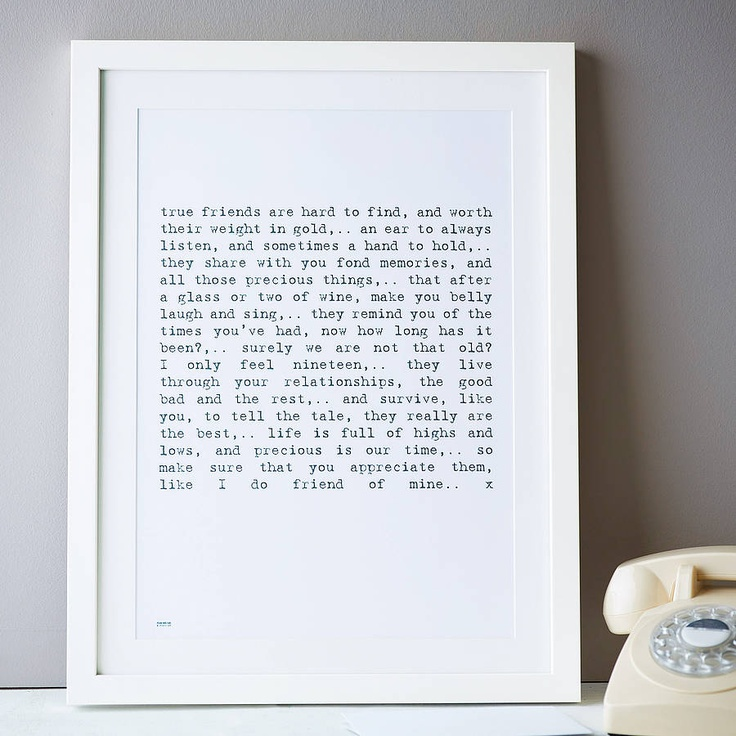 Gift Wedding Print Homemade