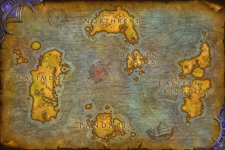 Draenor World Outland Warlords Warcraft Map