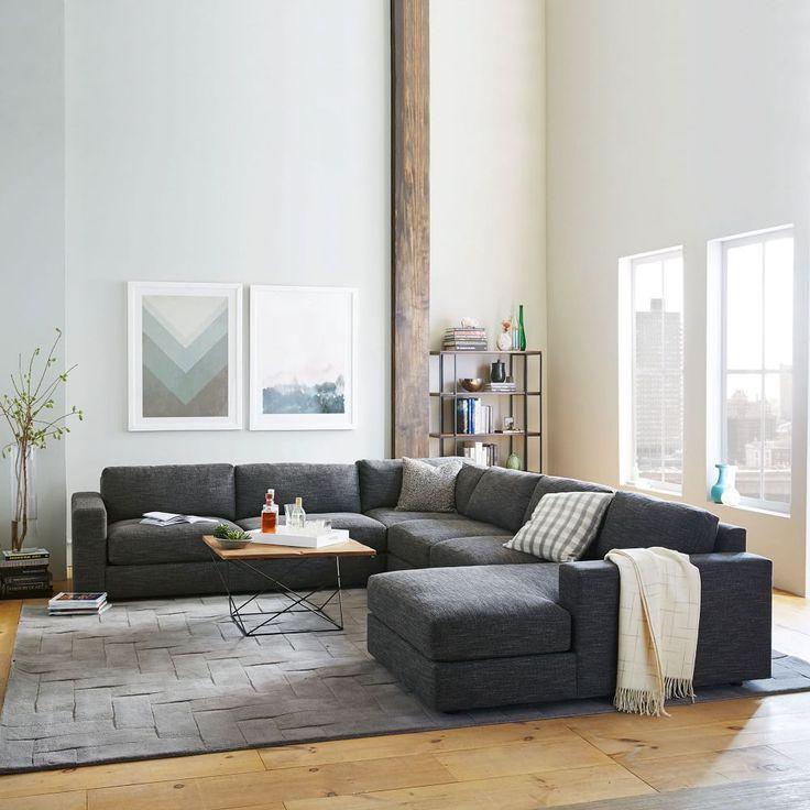 West Elm Chaise Sofa