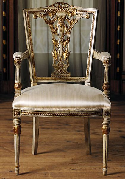 Gold Fabric Accent Chair