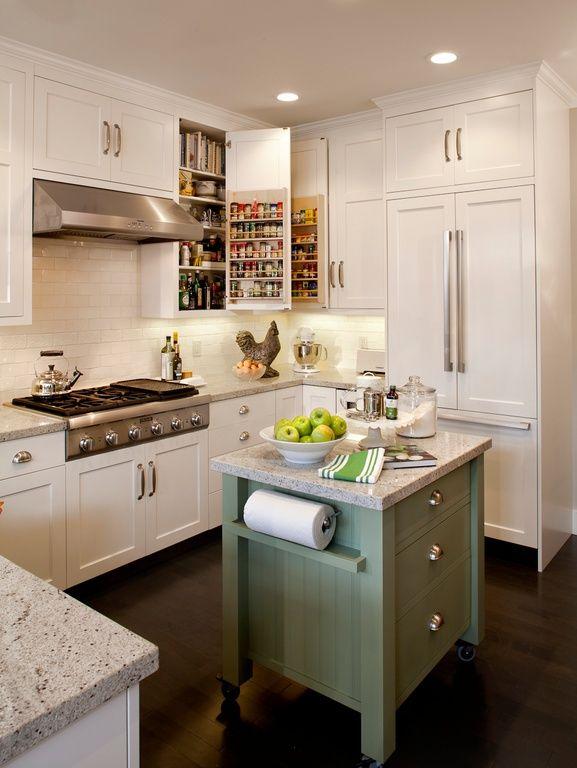 Small U Shaped Kitchen Designs Island