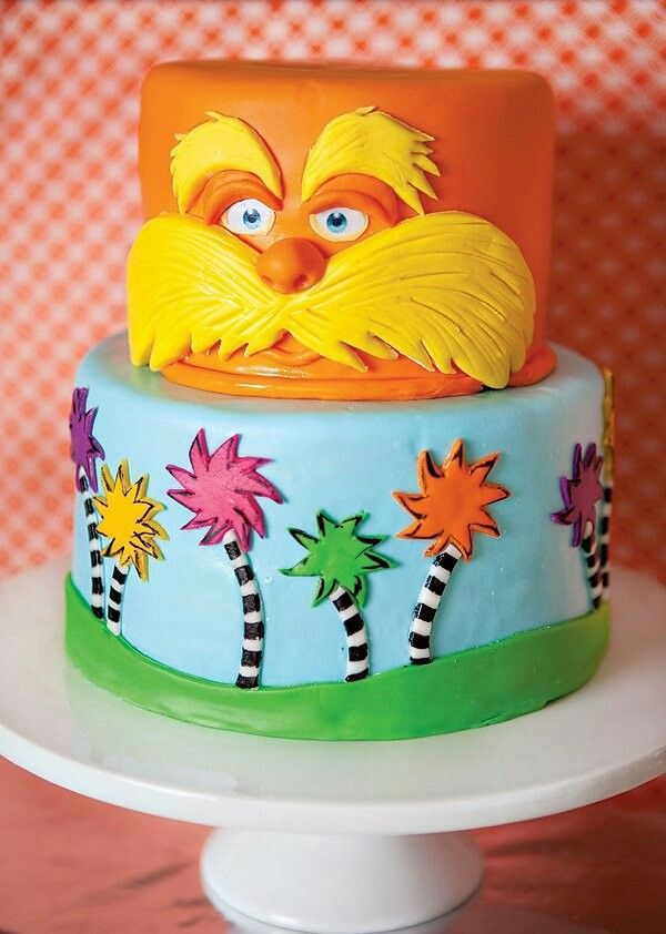 Birthday Lorax Cake Making 2019