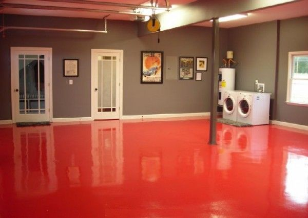 Extraordinary Red Epoxy Basement Floor Paint Lab