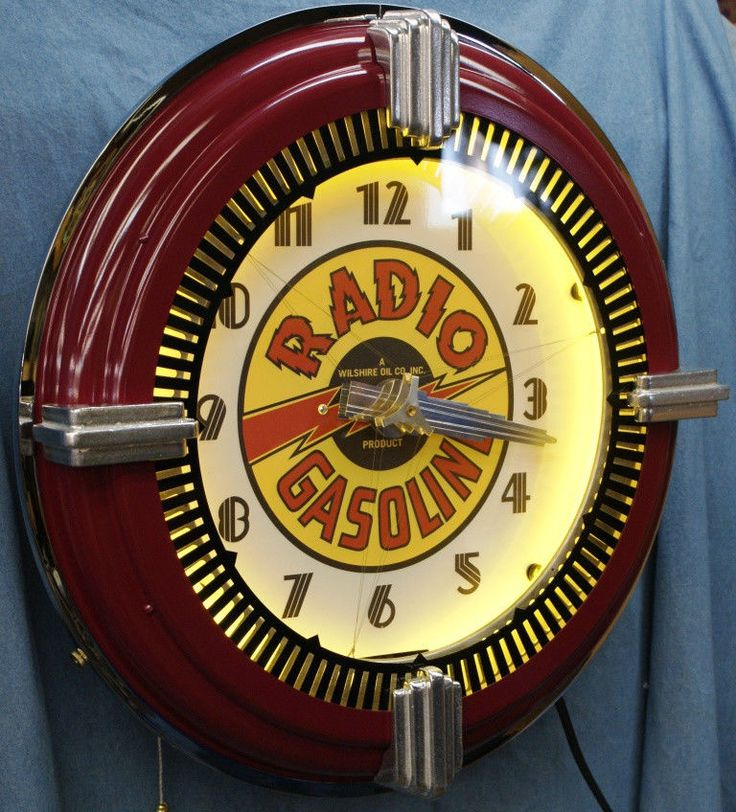 Old Lighted Advertising Clocks