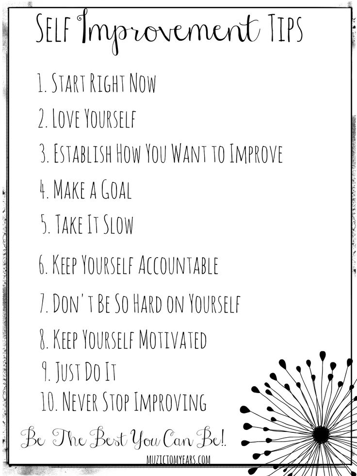 Ideas Self Improvement Work