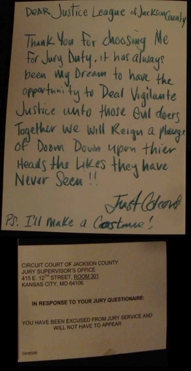 Jury Letter Summons Duty
