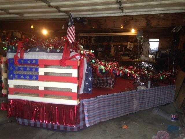 Patriotic Parade Float Decorations