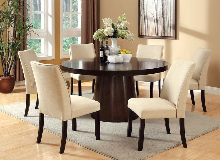 Round Table Large Wood Dining