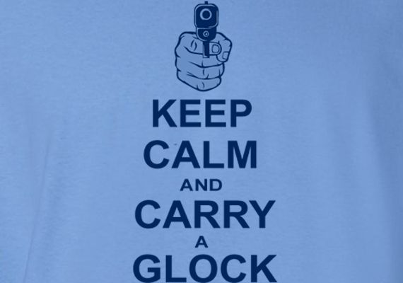Keep Calm Shoot And Glock