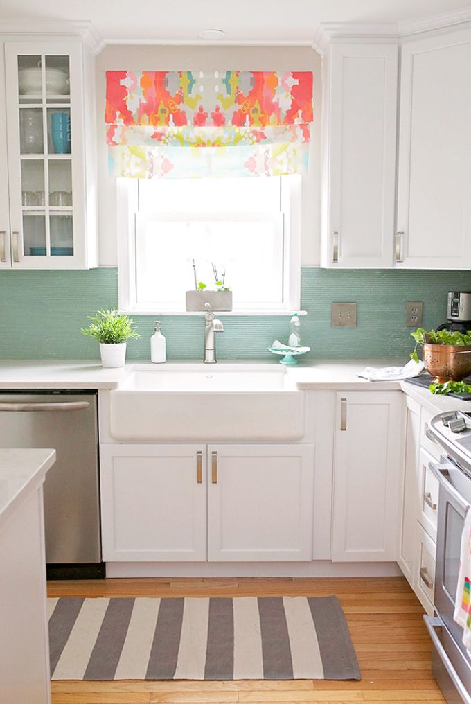 Kitchen Tile Backsplash Bright Color