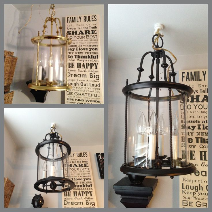 Tips Spray Painting Light Fixtures