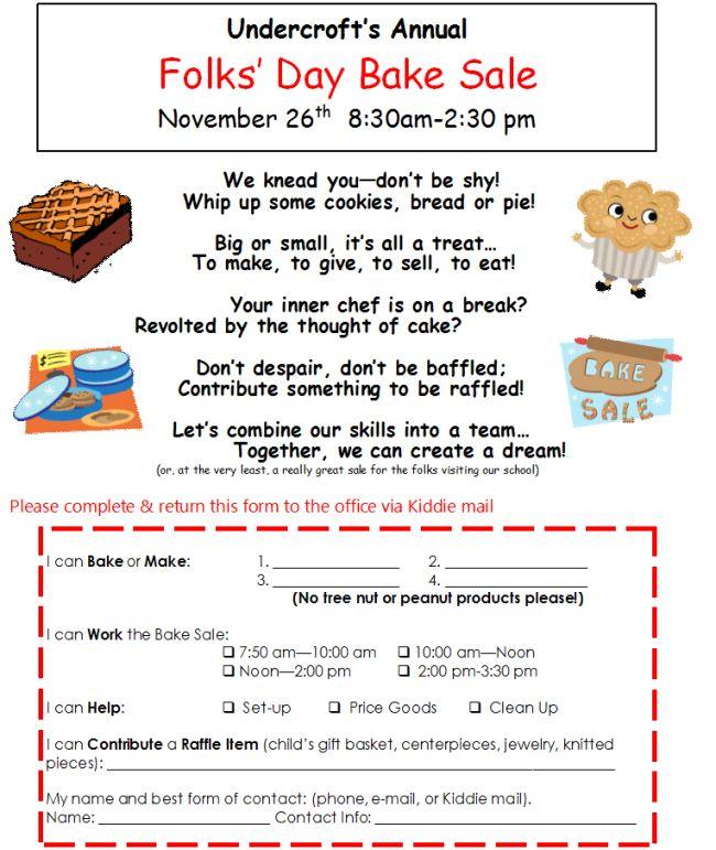 bake sale donation request flyer